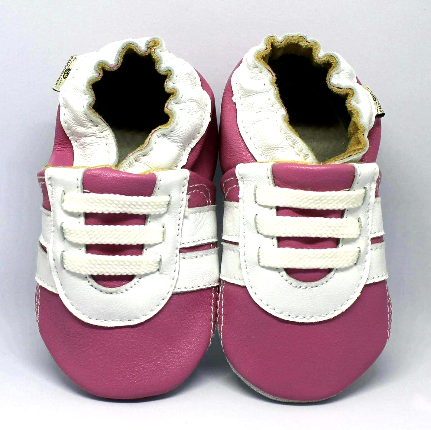 Pink \u0026 White Runners - SHOOBEES Baby Shoes