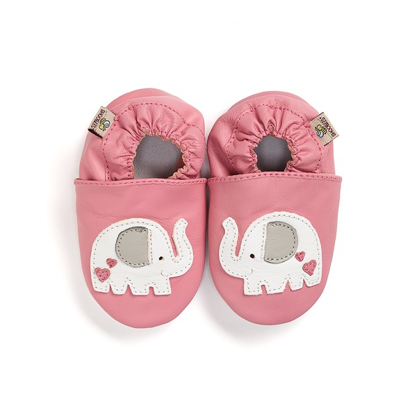 Pink Elephant Baby Shoes - SHOOBEES